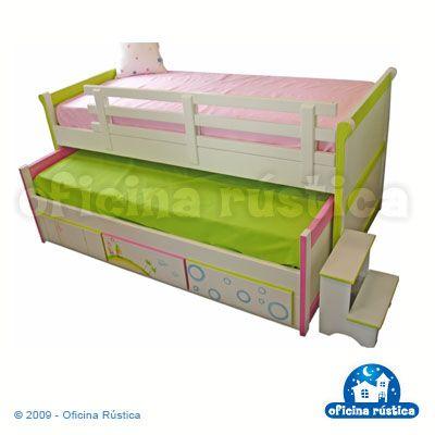 Cama tripla luis filipe com 3 gavetas quartos de for Cama oficina