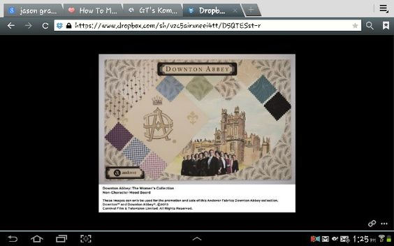 All right quilters get ready to make Downton Abbey quilts form the new fabric collection