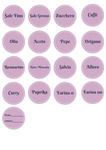 text (1) etichette stampabili in italiano, dispensa ordinata