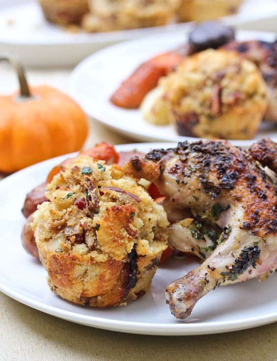 Cornbread Stuffing Muffins with Apple and Pancetta from @Sommer | A ...