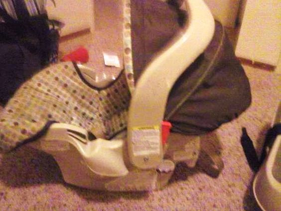 Before photo of a car seat