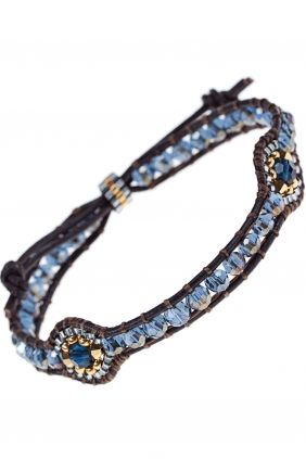 leather bracelet with jewelry beads I designed by #miguel #ases I NEWONE-SHOP.COM: