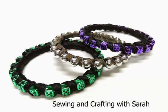 Sewing and Crafting with Sarah - Learn how to make your own bangle bracelets using Mardi Gras beads and zip ties!  @Mark Montano inspired craft