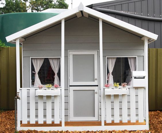 Painted Cubby House from Aarons Outdoor Living