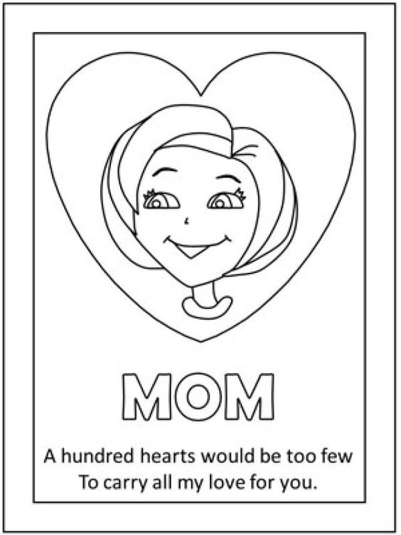 Free Printable Mothers Day Coloring Pages  Mothers Coloring
