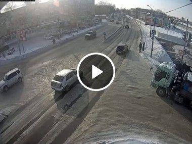 Perigo em estrada em rodovia.