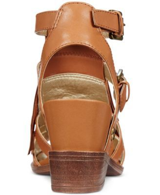White Mountain Saga Fringe Dress Sandals