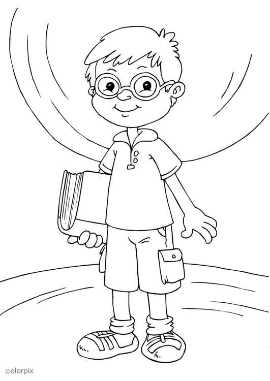 Coloring Page To Wear Glasses Coloring Picture To Wear Glasses