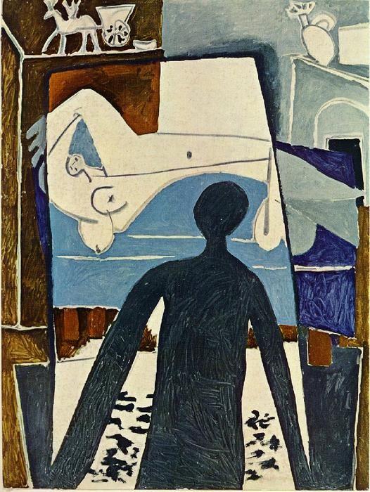 'le ombre', charbon de bois de Pablo Picasso (1881-1973, Spain)