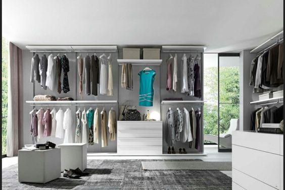 Schlafzimmer mit begehbarem Kleiderschrank glaswand Closet Pinterest