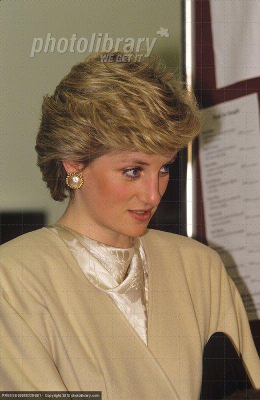 Princess Diana au High Close School, Wokingham, Berkshire, ,_ mars 1987