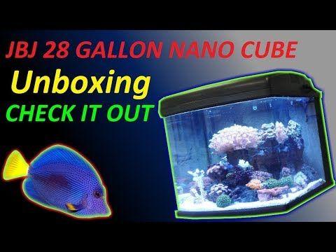 26 Unboxing Of Jbj 28 Gallon Nano Cube Saltwater Fish Tank Aquarium Aio Youtube