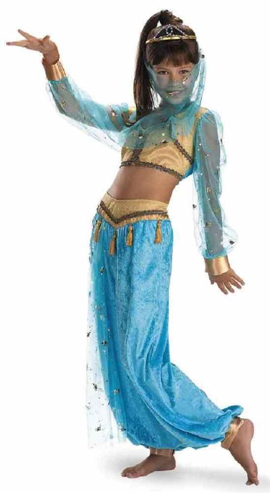 Mystical Genie Harem Girl Belly Dancer Fancy Dress Up Halloween Child Costume…