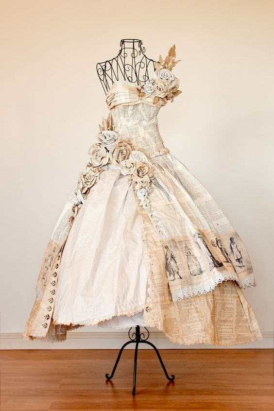 nice So I made this dress entirely out of book pages for a local art competition , I ...