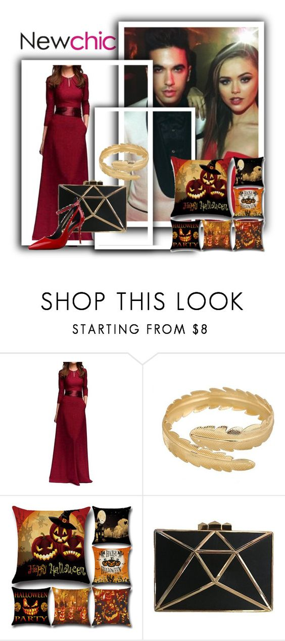 """halloween is coming with newchic"" by samiralugic ❤ liked on Polyvore featuring chic, New and newchic"
