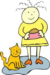Image result for girl cat clipart