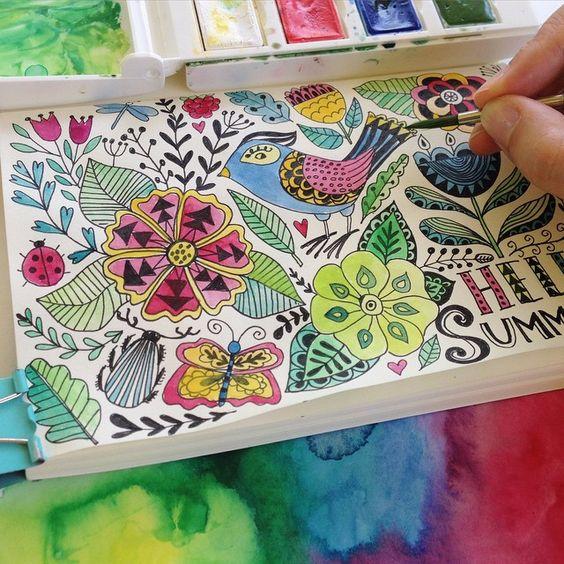 #doodle #pattern#drawing #artist #artjournal #sketchbook #watercolor #painting