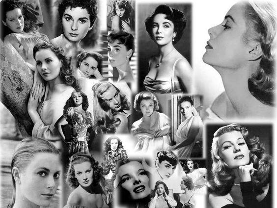 Resultado de imagen de collage de actrices clásicas