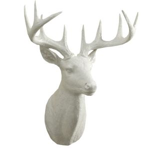 20 wallmount white deer head decor baby rooms pinterest maison d - Tete de cerf blanche ...