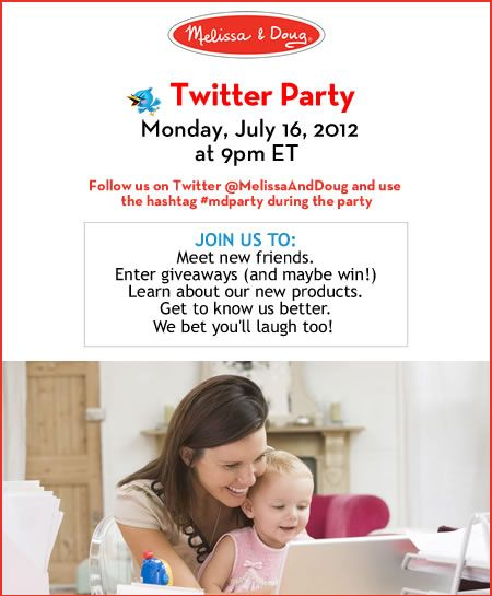 #TWITTER PARTY! Monday, July 16, 2012 at 9pm ET. RSVP necessary. Use hashtag #mdparty