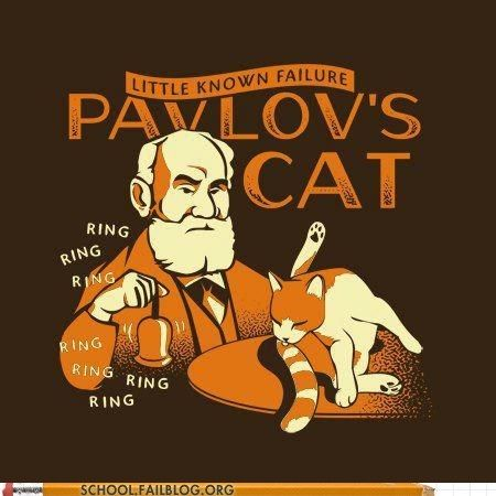 Pavlov's cat- the little known failure. He just doesn't care.: