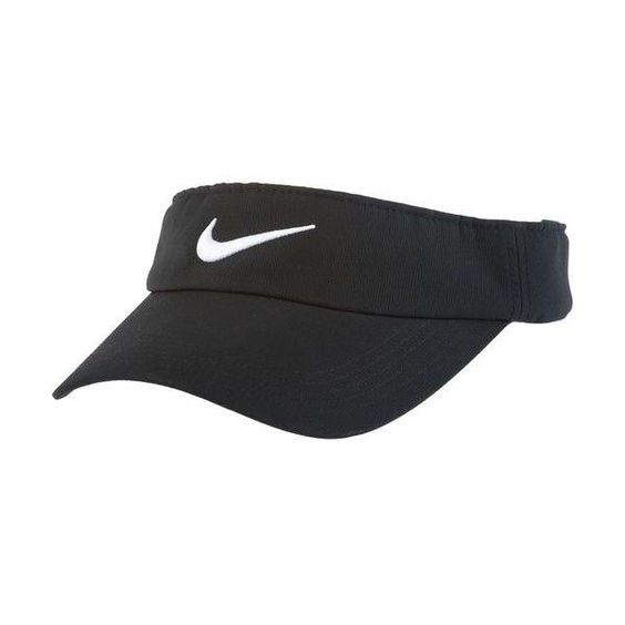 Nike Adults' Tech Swoosh Visor Hat (£14) ❤ liked on Polyvore featuring accessories, hats, nike, visors, sun visor hat, visor hats, nike hat and adjustable hats