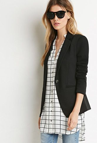 Single-Button Knit Blazer | Forever 21 - 2000172988 | Money to ...