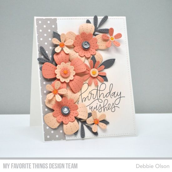 Birthday Wishes Stitched Blooms Card Kit Countdown Flower Cards Cards Handmade Paper Cards