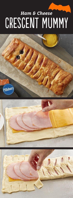 Ham and Cheese Crescent Mummy