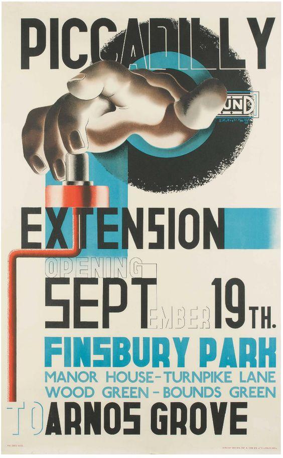 Piccadilly Extension - Edward McKnight Kauffer