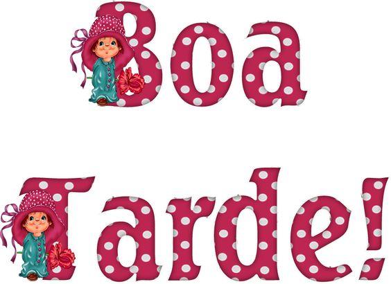 Alfabeto Decorativo: Boa Tarde! - Alfabeto Infantil 3 - PNG