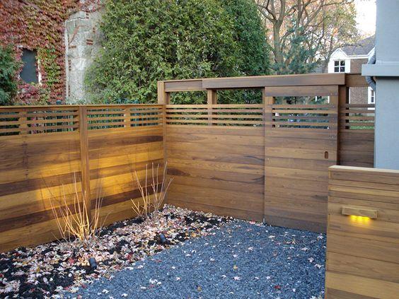 Projet récent 2013 clôture en bois torréfié  Portfolio Simon
