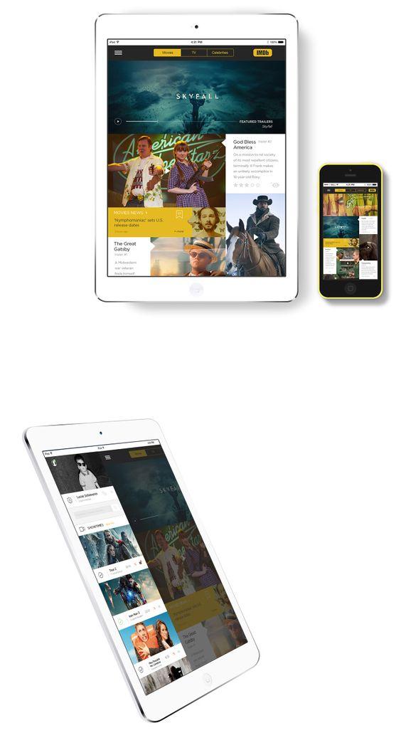 app redesign, imdb, movies, tv shows