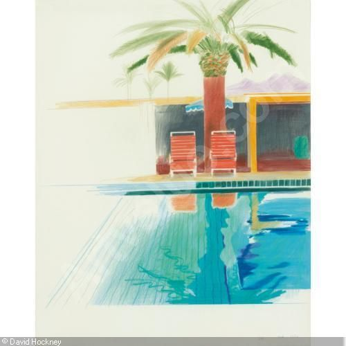 david hockney Palm reflected in Pool arizona