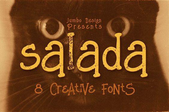 Salada - Funny Style Font by JumboDesign on @creativemarket