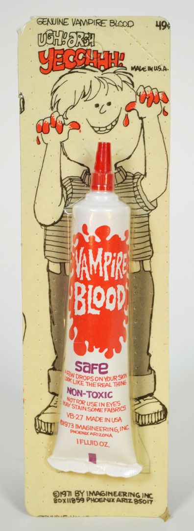 "Imagineering Vampire Blood ""Safe"" 1970's Monster Toy Fake Costume Vampire Blood 