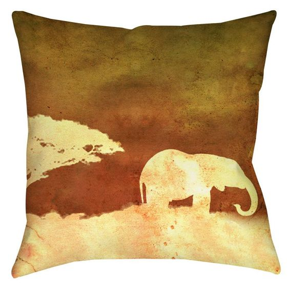 Safari Sunrise 1 Printed Throw Pillow