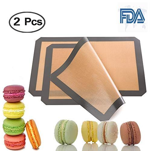 Silicone Baking Mat Sets Of 2 Half Sheet Size 16 5 X11 5 Non