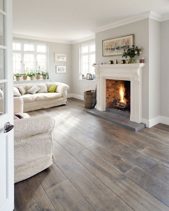 10 Times Gray Was The Perfect Color For Everything Bethany Mitchell Homes Living Room Wood Floor Summer Living Room Farm House Living Room