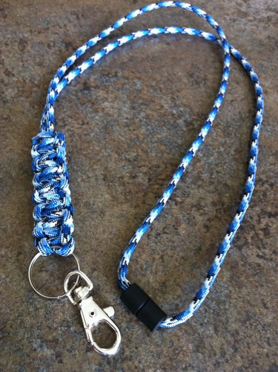 Paracord lanyard would love to make one of these for How to make a paracord lanyard necklace