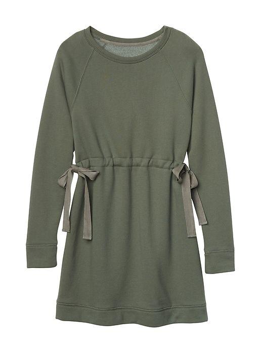 Athleta Studio Cinch Dress Herb Olive Pretty Outfits Sweatshirt Dress Small Waist Workout