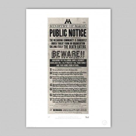 MinaLima - Ministry of Magic Public Notice