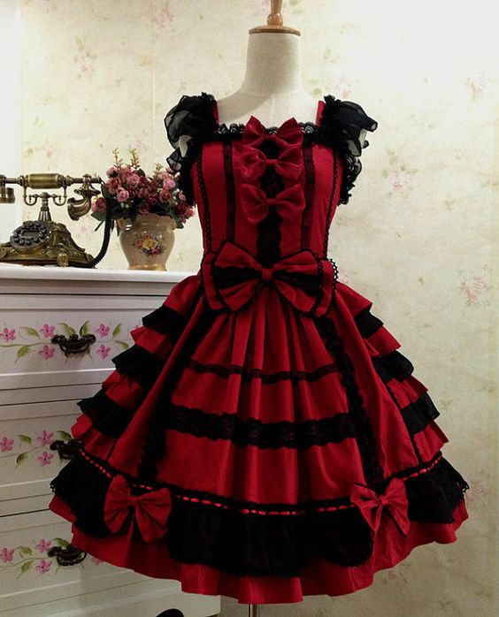 Sweet Love Lolita Dress Gothic Lolita Dress by TulleSkirt on Etsy