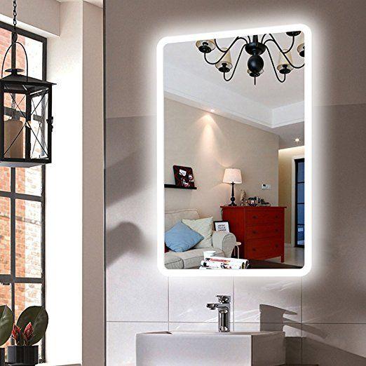 Dimmable Led Backlit Mirror Anti Fog Illuminated Vanity Mirror