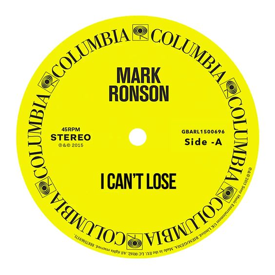 Mark Ronson – I Can't Lose acapella
