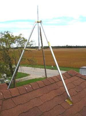 Tv Antenna Tripod Roof Mount In 2020 Tv Antenna Installation Mounted Tv