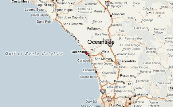 Oceanside Location Map Oceanside California Oceanside Weather Forecast