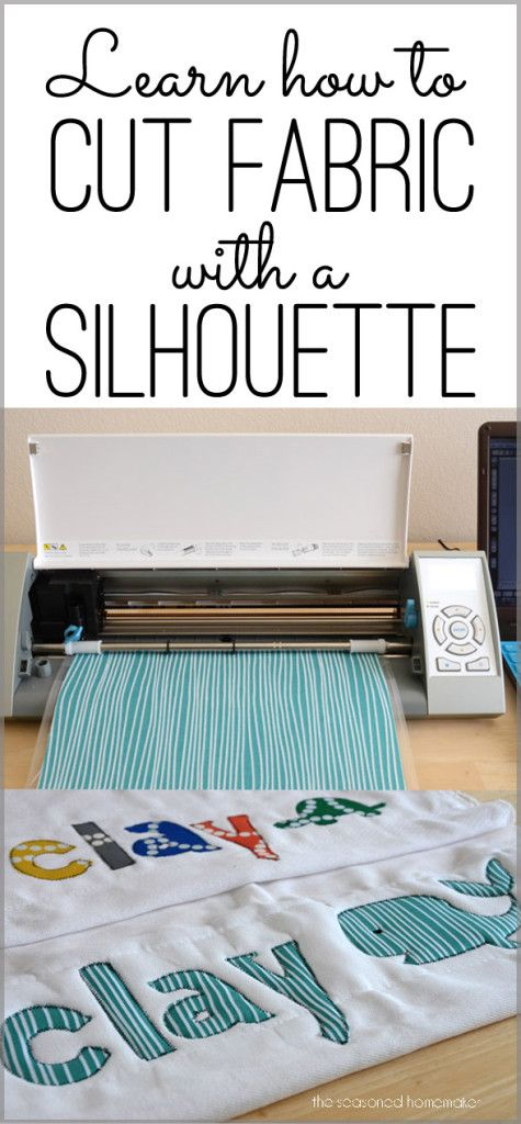 Did you know that cutting fabric on your Silhouette is so easy. Today, I want to get practical and show how easy it is to cut fabric with a Silhouette. Here's how to cut fabric with a Silhouette Cameo. The Seasoned Homemaker: