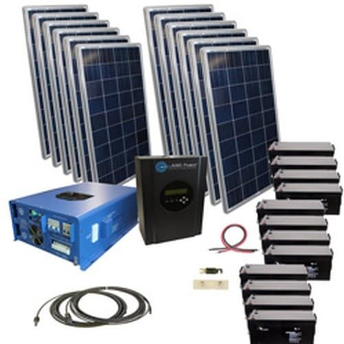 2880 Watt Off Grid Solar Kit With 12000 Watt Power Inverter Charger Solar Kit Off Grid Solar Solar Heating