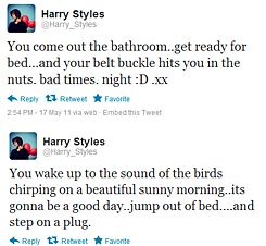Haz, you little derp. He has some of the best tweets. Honestly. xx (: